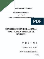 El animal en Borges