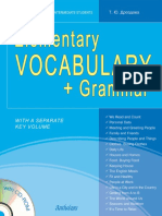 Elementary Vocabulary Grammar - 2012 Drozdova T Yu