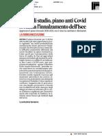Borse di studio, piano anti Covid - Il Corriere Adriatico del 4 giugno 2020