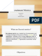 Recruitment metrices presentation