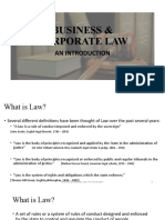 Lecture 01 - Introduction to Law