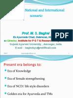 Prof. M. S. Baghel- Ayurveda  India-global scenario.ppt
