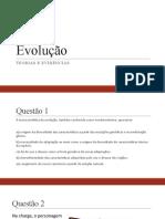 EVOLUÇÃO TEORIAS  E EVIDÊNCIAS - EX - OK