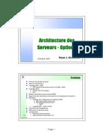 Architecture des serveurs - Options