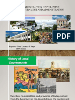 History and Evolution of Philippine Local Government and Administration