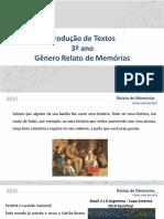 Material Produção de Texto - 3º ano - Relato de Memórias
