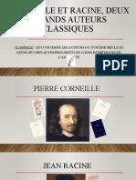 Corneille et racine, deux grands auteurs classiques