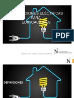 INST. ELÉCTRICAS EN EDIFICACIONES
