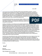 Letter From Supt. Mike Poore 6.4.20