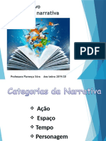 Texto narrativo - categorias da narrativa