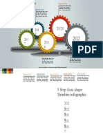 14.Create 5 Step Gear shape Timeline infographic