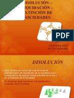 Diapositivas Disolución Liquidación y Extinción Sociedades