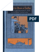 How to Run a Lathe1930
