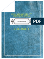 Bulk Rename Utility- Manual by Tim Mongeon USA