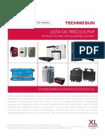 202005 Techno-sun Lista de Precios Solar Fotovoltaica