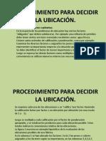 4.PROCEDIMIENTO PARA DECIDIR LA UBICACIÓN