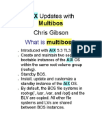 Upgrading AIX TL With Multibos