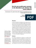 2011Construcción de una escala para conocer la intención de abandono por efecto del estrés laboral