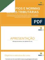 Slides Princípios e Normas Gerais Tributárias