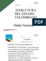 ESTRUCTURA DEL ESTADO COLOMBIANO ORDEN NACIONAL
