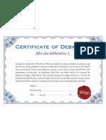 Certificate of de-Baptism
