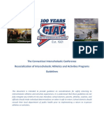 CIAC Resocialization of Athletics Guidance 2020