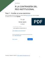 TUTORIAL 2 - CAMBIAR LA CONTRASEÑA DEL CORREO INSTITUCIONAL