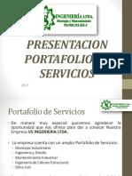 PORTAFOLIO  DE  SERVICIOS 2017 (1) (1) (2)