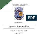 APUNTES DE GRAMÁTICA PARA SEGUNDO AÑO