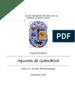 APUNTES DE GRAMÁTICA PARA PRIMER AÑO