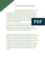 Intervención Norteamericana y llegada de Trujillo al poder