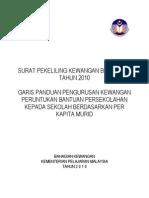 Surat Pekeliling Kewangan Bantuan Perkapita