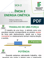 AULA4_FIS2_POTÊNCIA_E_ENERGIA CINÉTICA