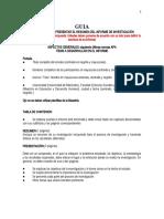 PROTOCOLO PARA PRESENTAR INFORME FINAL DE INVESTIGACIÓN