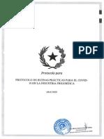 Protocolo ante caso de COVID-19 en la industria frigorífica
