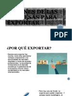 RAZONES DE LAS EMPRESAS PARA EXPORTAR