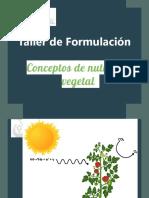 1-Taller de Formulacion SN Conceptos de nutricion