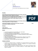 Curriculum Dr. Erick Leidenz 2019