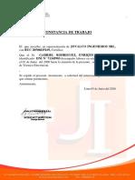 CERTIFICADO DE TRABAJO GABRIEL RODRIGUEZ, ENRIQUE VALDEMAR