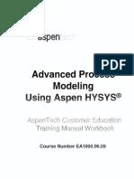 HYSYS_Course EA1000 Advanced Process Modeling