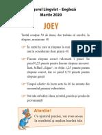 Joey subiecte cangur engleza martie 2020