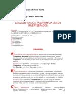 Frank Caballero 9-1 LA CLASIFICACIÓN TAXONÓMICA DE LOS INVERTEBRADOS