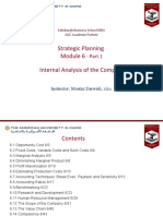 Internal Analysis of the Company (Module 6)-Part 1