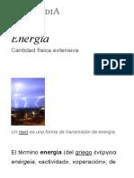 Energía - Wikipedia, la enciclopedia libre