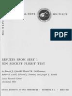 Results From SERT I Ion Rocket Flight Test