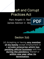 Anti Graft and Corrupt Practices Act