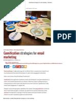 Gamification strategies for email marketing - Memeburn