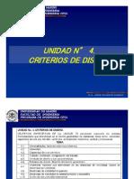 UNIDAD 4. CRITERIOS DE DISEÑO