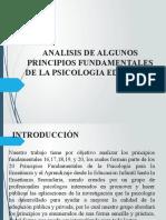 ANALISIS DE ALGUNOS PRINCIPIOS FUNDAMENTALES DE LA PSICOLOGÍA