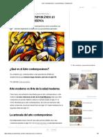 Arte Contemporáneo_ características y clasificación